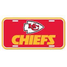 WinCraft NFL KANSAS CITY CHIEFS License Plate Schild