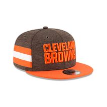 New Era NFL CLEVELAND BROWNS Authentic 2018 Sideline 9FIFTY Snapback Home Cap