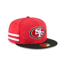 New Era NFL SAN FRANCISCO 49ERS Authentic 2018 Sideline 59FIFTY Home Cap