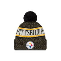 New Era NFL PITTSBURGH STEELERS Authentic 2018 Sideline Sport Knit (Wintermütze)
