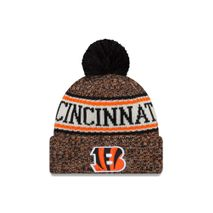 New Era NFL CINCINNATI BENGALS Authentic 2018 Sideline Sport Knit (Wintermütze)