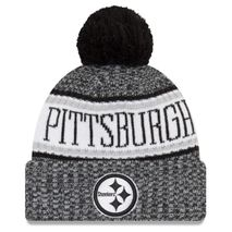 New Era NFL PITTSBURGH STEELERS Authentic 2018 Black/White Sideline Sport Knit Wintermütze