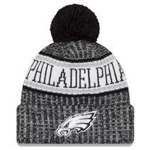 New Era NFL PHILADELPHIA EAGLES Authentic 2018 Black/White Sideline Sport Knit Wintermütze