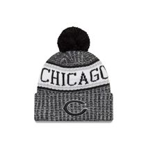 New Era NFL CHICAGO BEARS Authentic 2018 Black/White Sideline Sport Knit Wintermütze
