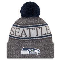 New Era NFL SEATTLE SEAHAWKS Authentic 2018 Graphite Sideline Sport Knit Wintermütze