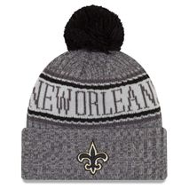 New Era NFL NEW ORLEANS SAINTS Authentic 2018 Graphite Sideline Sport Knit Wintermütze