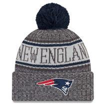New Era NFL NEW ENGLAND PATRIOTS Authentic 2018 Graphite Sideline Sport Knit Wintermütze