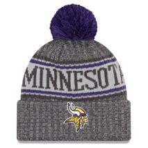 New Era NFL MINNESOTA VIKINGS Authentic 2018 Graphite Sideline Sport Knit Wintermütze