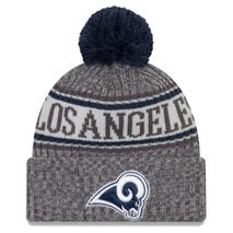New Era NFL LOS ANGELES RAMS Authentic 2018 Graphite Sideline Sport Knit Wintermütze