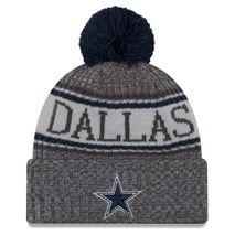 New Era NFL DALLAS COWBOYS Authentic 2018 Graphite Sideline Sport Knit Wintermütze