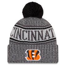 New Era NFL CINCINNATI BENGALS Authentic 2018 Graphite Sideline Sport Knit Wintermütze