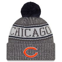 New Era NFL CHICAGO BEARS Authentic 2018 Graphite Sideline Sport Knit Wintermütze