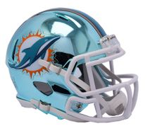 Riddell NFL MIAMI DOLPHINS Chrome Speed Mini Footballhelm