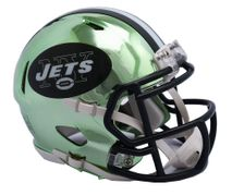 Riddell NFL NEW YORK JETS Chrome Speed Mini Footballhelm