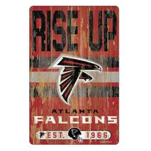 WinCraft NFL ATLANTA FALCONS Slogan Wood Sign Holzschild