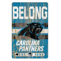 WinCraft NFL CAROLINA PANTHERS Slogan Wood Sign Holzschild