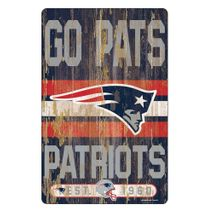 WinCraft NFL NEW ENGLAND PATRIOTS Slogan Wood Sign Holzschild