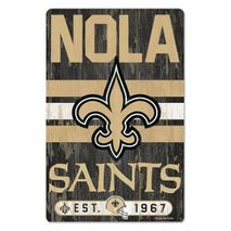 WinCraft NFL NEW ORLEANS SAINTS Slogan Wood Sign Holzschild