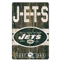 WinCraft NFL NEW YORK JETS Slogan Wood Sign Holzschild