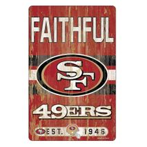 WinCraft NFL SAN FRANCISCO 49ERS Slogan Wood Sign Holzschild