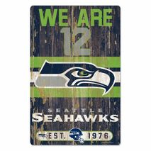 WinCraft NFL SEATTLE SEAHAWKS Slogan Wood Sign Holzschild