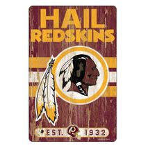 WinCraft NFL WASHINGTON REDSKINS Slogan Wood Sign Holzschild