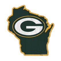 WinCraft NFL GREEN BAY PACKERS State Wood Sign Holzschild