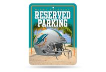 Rico Industries NFL MIAMI DOLPHINS Parking Sign Schild