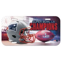 WinCraft NFL NEW ENGLAND PATRIOTS Super Bowl 2019 License Plate Champions Schild
