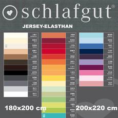 Schlafgut Spannbettlaken Jersey-Elasthan 180x200 bis 200x220 cm