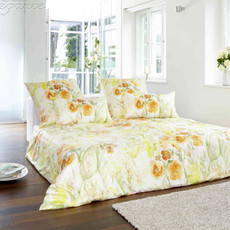 Elegante Comfort-Satin Bettwäsche Avignon 2100-3 Honig