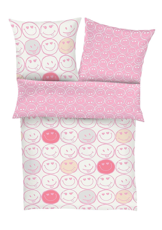 s oliver kinder bettw sche renforce smiley 4177 500 rosa. Black Bedroom Furniture Sets. Home Design Ideas