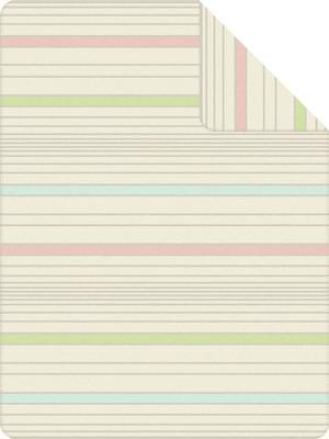 Ibena Jacquard Decke Sorrento 1481-100  pastell gestreift Baumwollmischung