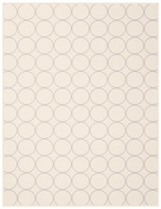 Biederlack Wohndecke Cotton Home | Sunday Circle natur / rosa 150 x 200 cm