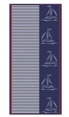 Ross Strandtuch maritim 70x150 cm Walk-Frottier  100% Baumwolle