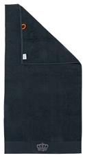 done.® BLACK LINE STONE CROWN Duschtuch schwarz 100% Baumwolle Frotte