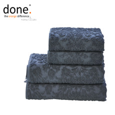 done.® PROVENCE ORNAMENTS Handtuch Set 4-tlg. Anthracite