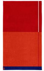 Seahorse Block – Strandlaken – 100 x 180 cm – Red 100% Baumwolle
