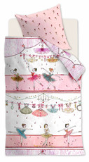 Beddinghouse Bettwäsche KIDS DANCING PINK Pink 100 x 135 cm 100% Baumwolle