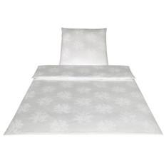Elegante Jacquard-Satin Bettwäsche Rosery 3012-0  Weiß 100% Baumwolle