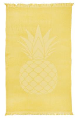 done.®  Hamamtuch CAPRI Pineapple 100% Baumwolle 90 x 160 cm mit Fransen extra leicht