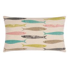 pad Kissenbezug Sardine multi 35 x 60 cm Fischmotive 100% Baumwolle grob gewebt bedruckt