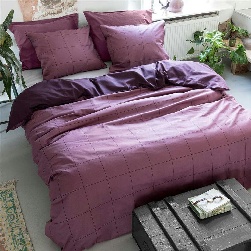walra baumwoll bettw sche square feet lila. Black Bedroom Furniture Sets. Home Design Ideas