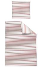 Irisette Mako-Satin Bettwäsche Capri gestreift rosa 8050-60 aus 100% Baumwolle