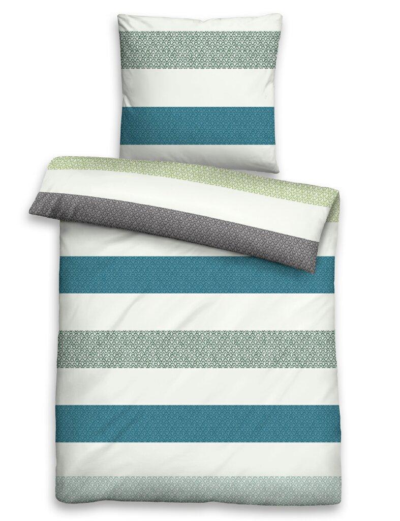biberna fein biber bettw sche balken 8570 220 blau. Black Bedroom Furniture Sets. Home Design Ideas