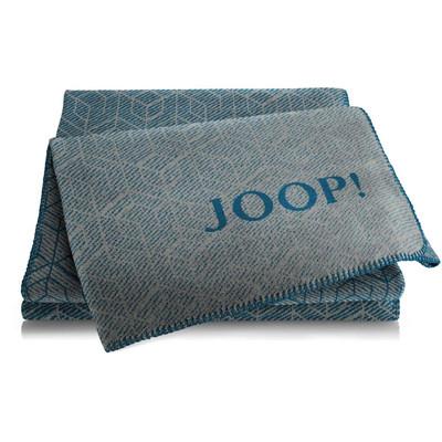 JOOP! Wohndecke Metric Graphit-Petrol 150 cm x 200 cm Baumwollmischung