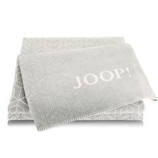 JOOP! Wohndecke Metric Ash-Ecru 150 cm x 200 cm Baumwollmischung