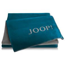 JOOP! Wohndecke Doubleface Petrol-Graphit 150 cm x 200 cm Baumwollmischung