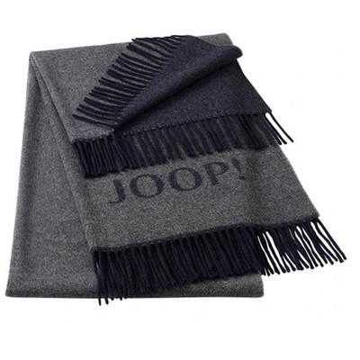 JOOP! Caress Wohnschal Plaid Schiefer 70 cm x 190 cm Wolle-Kaschmir Mischung