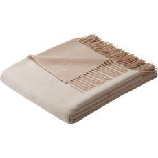 biederlack Plaid Kaschmir und Wolle beige/Creme Größe 130x170 cm